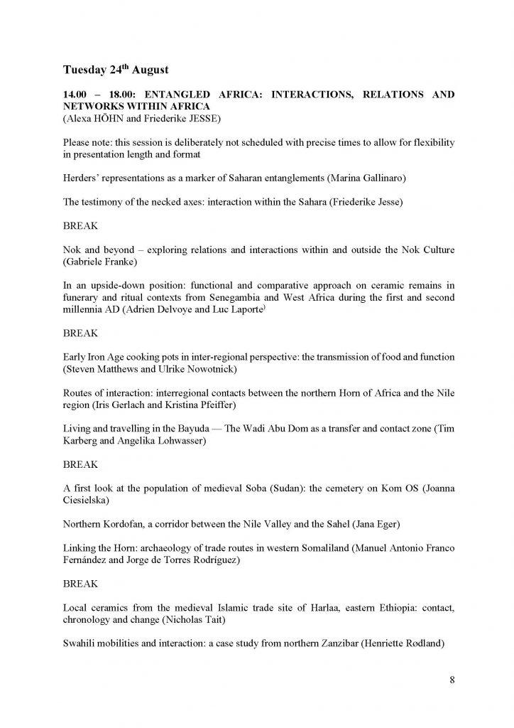 SAfA-Programme: Entangled Africa