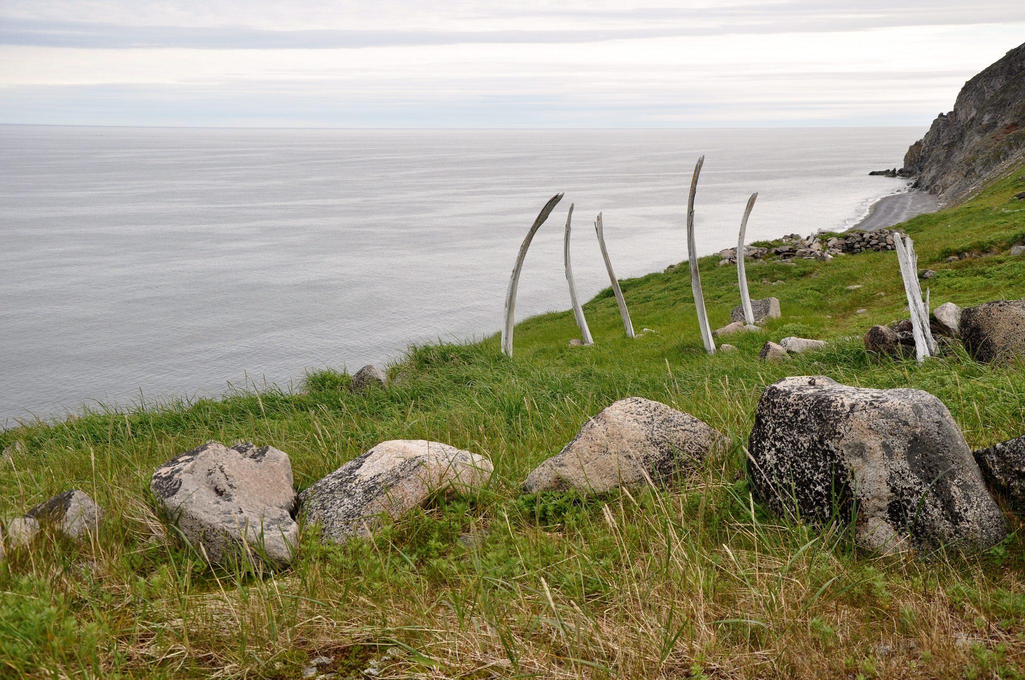 Naukan settlement (15th century AD – modern times, 1958) at Dezhnev Cape (photo K Dneprovskiy).