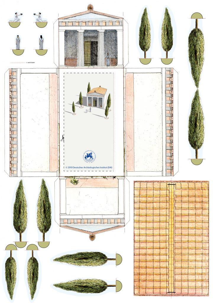 Bastelbogen Tempel