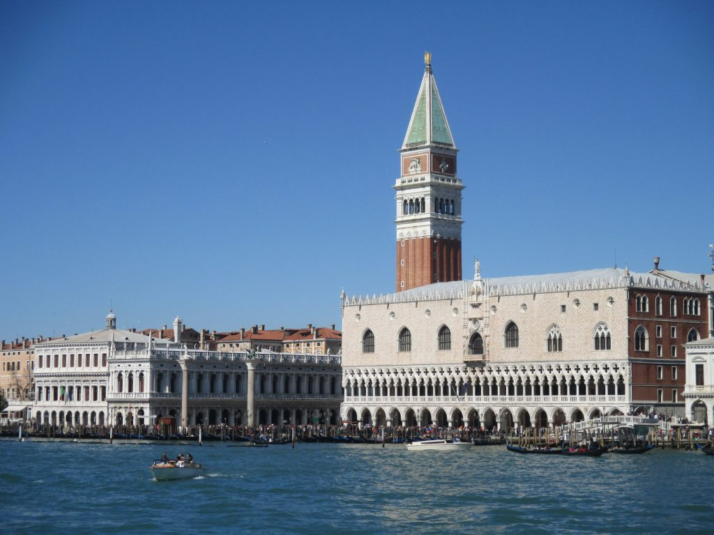 World Heritage Site of Venice is at risk of sea-level rise.