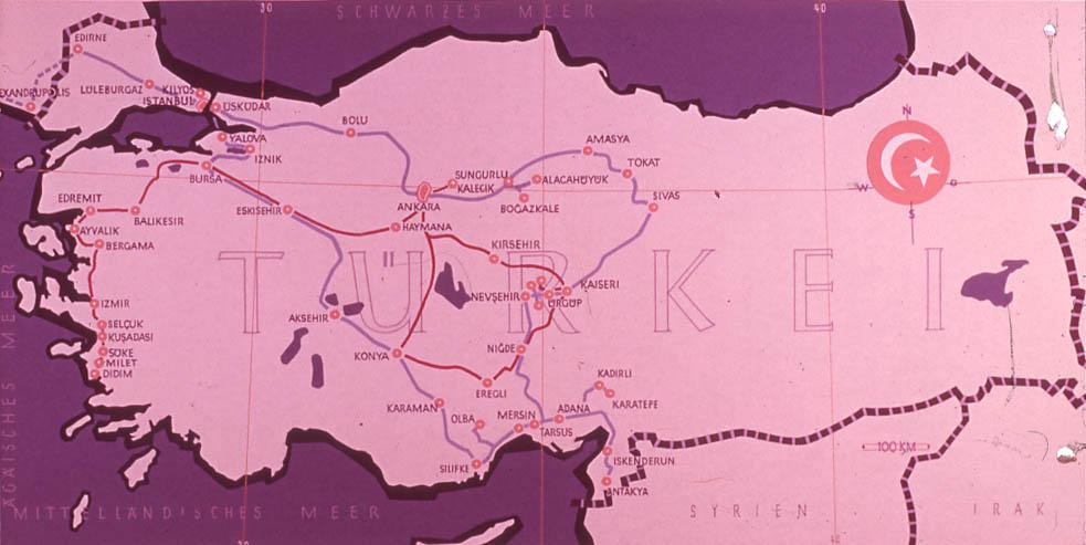 E. Eckstein, Türkiye Yolculuk Haritası
