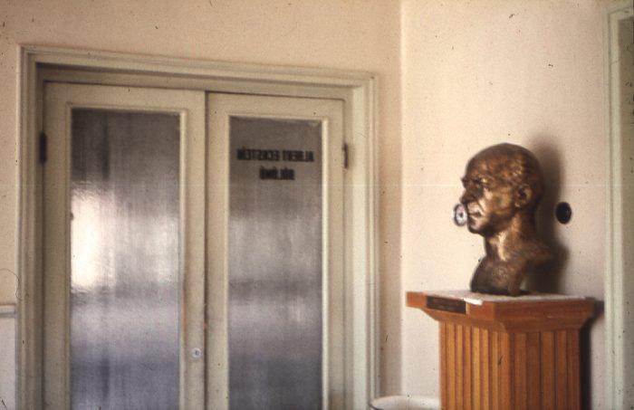 Eckstein, Hastanenin Albert Eckstein Bölümü Önünde, Albert Eckstein Büstü
